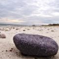 Colored rock on the beach. Sandy Neck, Cape Cod, MA