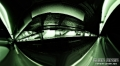 Beneath the surface in Roosevelt Island subway station heading to Manhattan. Panorama made of 50+ frames