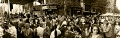 Panoramic view for Part of the crowd during NAAP\'s NY street festival 2010