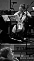 Cellist Ashley Bathgate from Bang On A Can All-Stars while performing Snakes and Ladders by Fred Frith