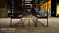 Wall Street Benches on a Saturday night, NY