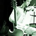 Rob Moose during Beautiful Mechanical debut, yMusic ensemble. Rockwood Music Hall, NYC