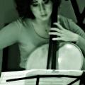 Clarice Jensen during Beautiful Mechanical debut, yMusic ensemble. Rockwood Music Hall, NYC