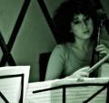 Nadia Sirota & Clarice Jensen during Beautiful Mechanical debut, yMusic ensemble. Rockwood Music Hall, NYC