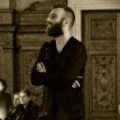 Ben Frost Just before his performance at the Rose Main Reading Room in NY public library.