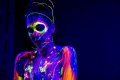 Transition. Michelle Daniele and the Black Light Body Paint. Photographers in Philadelphia. Philadelphia, PA