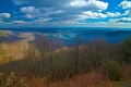 One of the overlooks of Blue Ridge Parkway in Virginia.