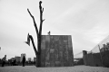 Oscar Tuazon\'s piece: People. Brooklyn bridge park art.