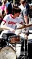 A Jazz Drummer performing, Columbus Circle at 59th Street NY
