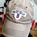 Boston Red Sox cap hat. Contentious Reality studio in Chickopee, MA