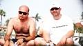 Ahmed & Bilal devouring something and posing for the camera...Taken at Coronado beach in Coronado Island. San Diego, CA