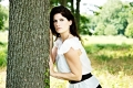 \ When Sorrow Shoots Her Darts\. Sarah Miranda, model. Taken near Pen Ryn Mansion. Bensalem, PA