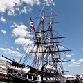 USS Constitution. Charlestown Naval shipyard park
