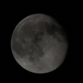 Clouds were covering moon and providing a thick layer of darkness