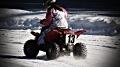 ATVs, Dirtbikes & Sidehacks racing on Hamilton Rod & Gun club\'s oval track in Sturbridge, Mass