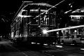 Tram arrived  Tram left. Canal Street. New Orleans, LA.Vieux Carre