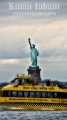 Statue Of Liberty with New York Taxi passing by as seen from Louis Valentino Junior Park