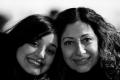 Soulafa Khanom and Lilly Khanom Posing near Bryant Park Pond. New York, NY