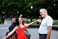 Soulafa, Nibal and Daniel in Washington square park, NY
