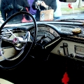 Immaculate interior for the red Mercury