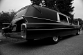 A 1963 Superior Cadillac Hearse seen at the 5th Mohnton Professional Car Club Hearse and Car Show. Laurel Hill Cemetery. Philadelphia, PA