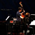 David Cossin (percussion), Robert Black (double bass) & Ashley Bathgate(Cello)  performing Glass\' Music in Similar Motion and Closing. Bang on a can marathon 2011. World Financial Center, NYC