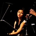 Vicky Chow(piano) & Evan Ziporyn (Clarinets) performing Glass\' Music in Similar Motion and Closing. Bang on a can marathon 2011. World Financial Center, NYC