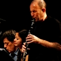 Philip Glass, Vicky Chow(piano) & Evan Ziporyn (Clarinets) performing Glass\' Music in Similar Motion and Closing. Bang on a can marathon 2011. World Financial Center, NYC