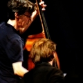 Robert Black (double bass) & Ashley Bathgate(Cello) performing Glass\' Music in Similar Motion and Closing. Bang on a can marathon 2011. World Financial Center, NYC