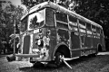 A bus that once belonged to the First Baptist Church of New Milford circa 1937.  Phillipsburg, NJ
