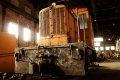 A 25-ton diesel electric locomotive recovered from Open Hearth 3. Bethlehem Steel. Bethlehem, PA