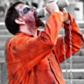Getting thirsty. County Jail Inmate; One of the outstanding costumes and gestures on that day. Zombie March VII, Boston, MA