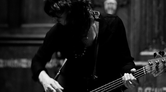 Dana Schechter AKA Insect Ark AKA Angels Of Light performs with Aidan Baker at The First Unitarian Side Chapel. Philadelphia, PA