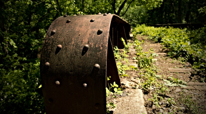 The abandoned Reading Railroad tracks... Pennypack Ecological Restoration Trust. Huntingdon Valley, PA