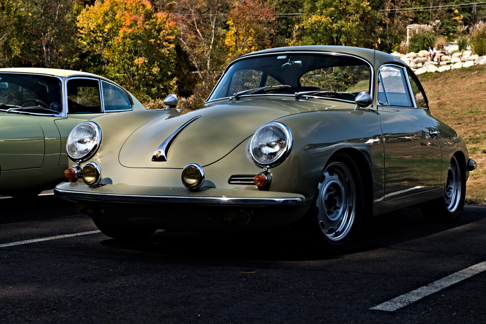 Porsche 356. Larz Anderson Auto Museum Fall 2020 Drive. Labelle Winery, NH